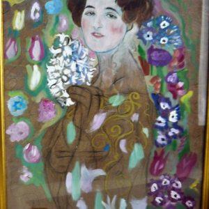 Gustav KLIMT 50x70h Ritratto di Ria Munk 1917-18