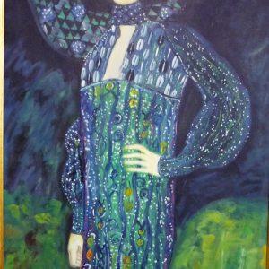 Gustav KLIMT 60x90h Ritratto di Emilie Floge 1902
