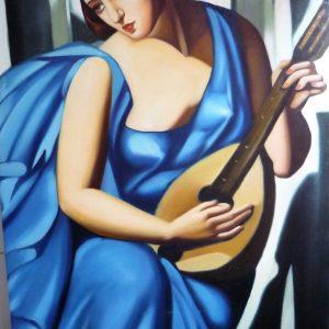 Tamara DE LEMPICKA 60x90h Donna con Mandolino 1930