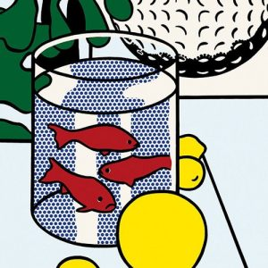 lichtenstein still life with goldfish